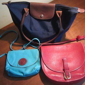 Trio of purses for sale! Leather and nylon purses